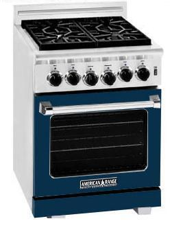 American Range ARR244DB Heritage Classic Series Natural Gas Freestanding Range with Sealed Burner Cooktop, 3.71 cu. ft. Primary Oven Capacity, in Dark Blue