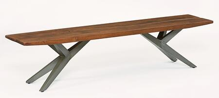 Home Trends & Design WBR802 Burghala Series Kitchen Armless Wood and Metal Bench