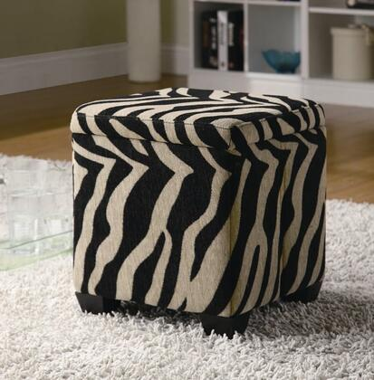 Coaster 501086 Oak Valley Series Traditional Fabric Ottoman