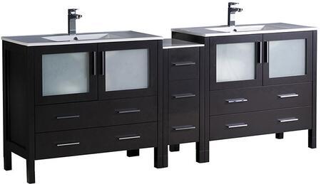 """Fresca FCB62361236XXX Torino 84"""" Double Sink Vanity with X Sink in"""