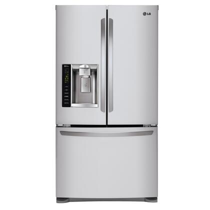 "LG LFX25973S 36"" 24.7 Cu. Ft. Freestanding French Door Refrigerator, Premium LED Interior Light, External Ice/Water Dispenser, Dual Ice Makers:"