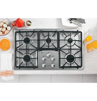"""GE Profile PGP966SETSS 36"""" Gas Sealed Burner Style Cooktop"""