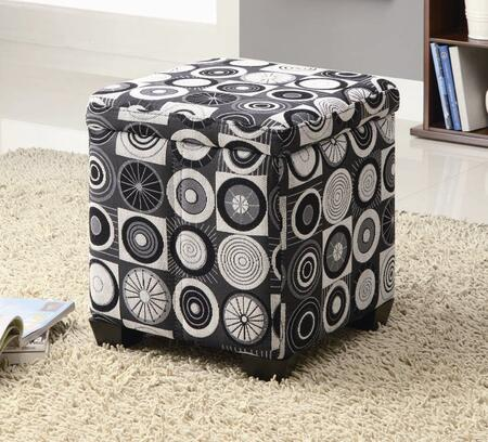 Coaster 501081 Oak Valley Series Traditional Fabric Ottoman