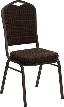"""Flash Furniture HERCULES Series NG-C01-XX-GV-GG 18.25"""" Crown Back Stacking Banquet Chair with Patterned Fabric, 2.5"""" Thick Seat, Gold Vein 16 Gauge Steel Frame, and Ships Fully Assembled"""