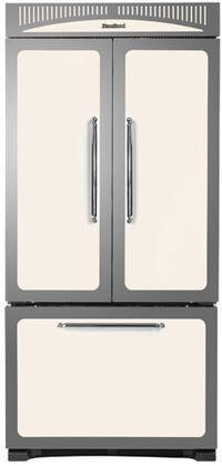 Heartland HCFDR20IVY Classic Series Counter Depth French Door Refrigerator with 19.8 cu. ft. Total Capacity 4 Glass Shelves