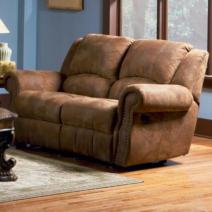 Coaster 550152 Microfiber Reclining with Wood Frame Loveseat