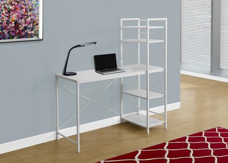"""Monarch I 716X 48"""" Computer Desk with Metal Frame, Open Concept Shelves and Ample Surface Area"""