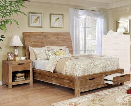 Furniture of America Dion 2 Piece California King Size Bedroom Set
