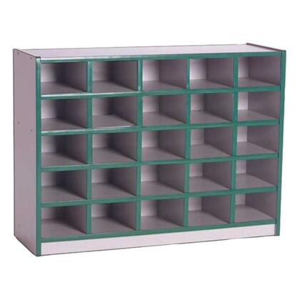 Mahar N60200 25 Tray Cubbie Unit without Trays in Gray Nebula Finish with Edge Color
