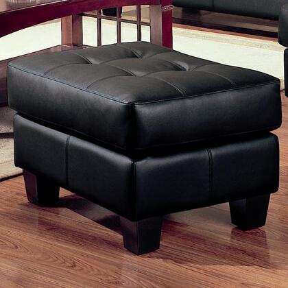 "Coaster Samuel 27"" Ottoman with Attached Seat Cushions, Sinuous Spring Base, Jumbo Stitching and Bonded Leather Upholstery in"