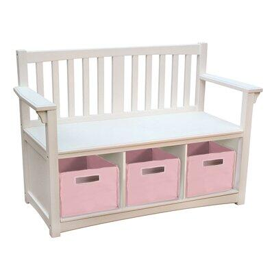 "Guidecraft G85708 Classic White Series Children""s  Wood Not Upholstered Bench"