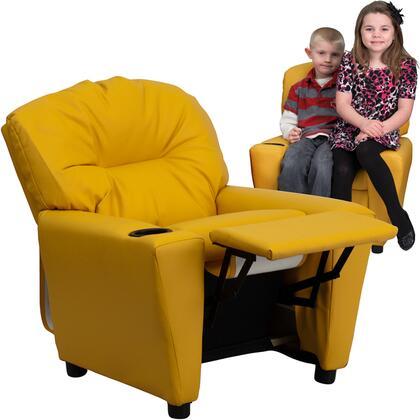 Flash Furniture BT7950KIDYELGG Childrens Vinyl Wood Frame  Recliners