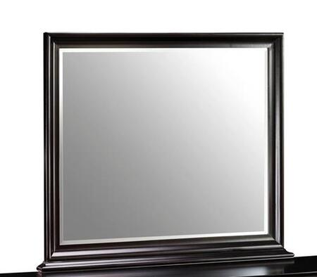 "Picture of 00-013-060 Belle Rose 46"" Landscape Mirror with Wooden Frame and Detailed Molding  in Dark"