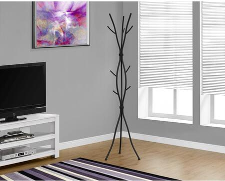 """Monarch I 206X 74"""" Coat Rack with Multiple Hanging Pegs, Classic Design and Branch Inspired Style"""