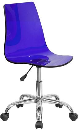 """Flash Furniture 30"""" - 33"""" Contemporary Task Chair with Pneumatic Seat Height Adjustment, Dual Wheel Casters, Chrome Base, Swivel Seat and Transparent Acrylic Material in"""