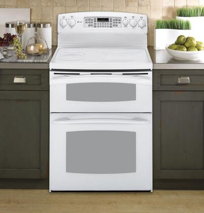 GE PB975TPWW Profile Series Electric Freestanding Range with Smoothtop Cooktop, 4.4 cu. ft. Primary Oven Capacity, in White