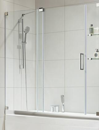 Picture of 0ASBS0403 Oasis-E - Premium 38 in 10mm Thick Clear Tempered Glass  60 in W x 58 in H  Frameless Sliding Shower Door in