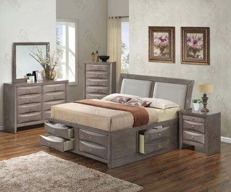 Glory Furniture G1505IQSB4DMN G1505 Queen Bedroom Sets