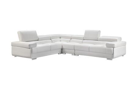Tremendous Esf 2119Sectionalwhiite Customarchery Wood Chair Design Ideas Customarcherynet