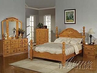 Acme Furniture 08390Q Ponderosa Series  Poster Bed