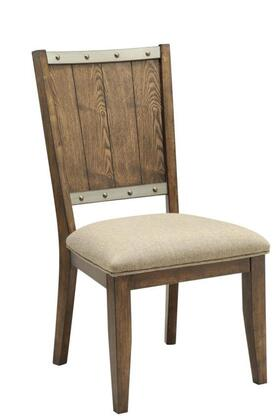 Coaster 107012 Beckett Series Rustic Fabric Wood Frame Dining Room Chair