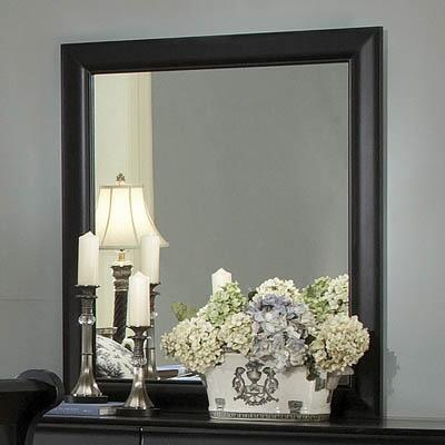 Yuan Tai 6706MBK Louis Philippe Series Rectangular Portrait Dresser Mirror