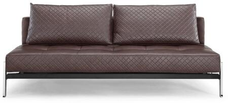 Lifestyle Solutions MCDEMSNSET Marquis Series Convertible Faux Leather Sofa