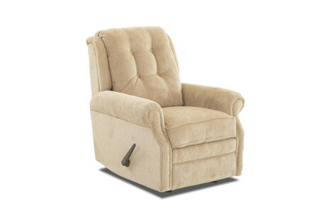 "Klaussner Sand Key Collection 57603H-RRC- 32"" Rocking Reclining Chair with Easy Pull Handle, Petite Rolled Arms, Button Tufted Back and Welted Panel Cushion in"