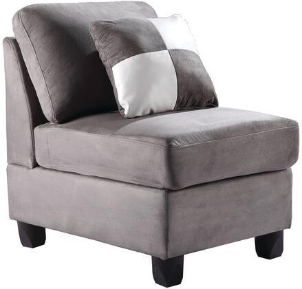 Glory Furniture G633AC Suede  in Grey