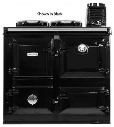 "Heartland HLARTISANBLK 36"" Woodburning Freestanding Range with 1.5 cu. ft. Primary Oven Capacity, in Black"