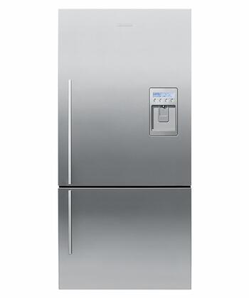 Fisher Paykel E522BRXFDU2  Counter Depth Bottom Freezer Refrigerator with 17.6 cu. ft. Total Capacity 5.2 cu. ft. Freezer Capacity 3 Glass Shelves