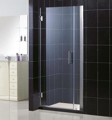 DreamLine SHDR-20317210 Unidoor Frameless Hinged Shower Door With Self-Closing Solid Brass Wall Mounted Hinges (5 Degree Offset), Reversible For Right or Left Door Opening