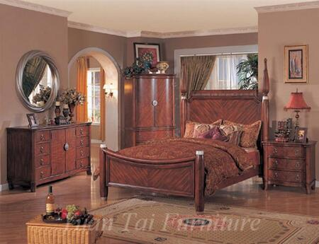 Yuan Tai SF9401KTVSET Santa Fe Series 5 Piece Bedroom Set