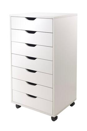 Winsome 10HalifW Halifax Cabinet for Closet / Office with Drawers in White Finish