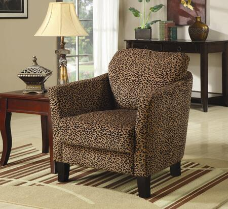 Coaster 900403 Club Fabric Wood Frame Accent Chair