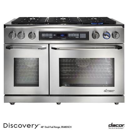 """Dacor ER48DSCHNGH 48"""" Discovery Series Dual Fuel Freestanding"""