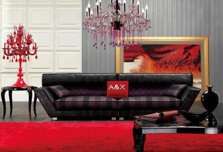 VIG Furniture VGUNAX007 Modern Fabric/Leather Living Room Set