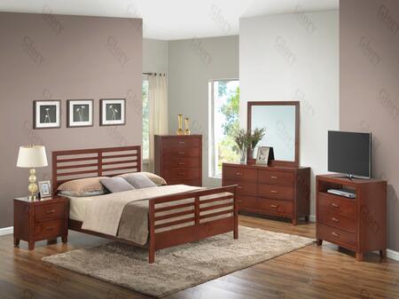 Glory Furniture G1200CKB2DMNTV G1200 Bedroom Sets