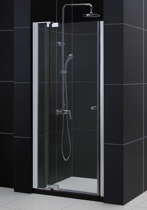 DreamLine DL-64 Allure Clear Glass Frameless Pivot Shower Door and SlimLine with Single Threshold Shower Base in Chrome