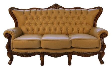 J. Horn 995KHAKIS 995 Series Stationary Leather Sofa