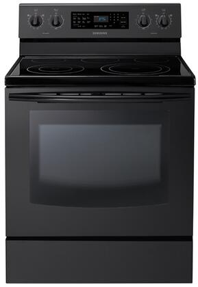 Samsung Appliance NE595R0ABBB  Electric Freestanding Range with Smoothtop Cooktop, 5.9 cu. ft. Primary Oven Capacity, Storage in Black