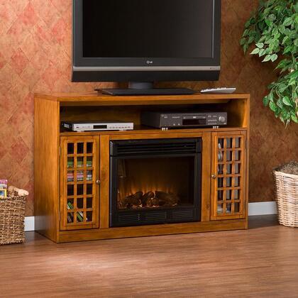Southern Enterprises FA9302E Narita Series  Electric Fireplace in Glazed Pine  Appliances Connection