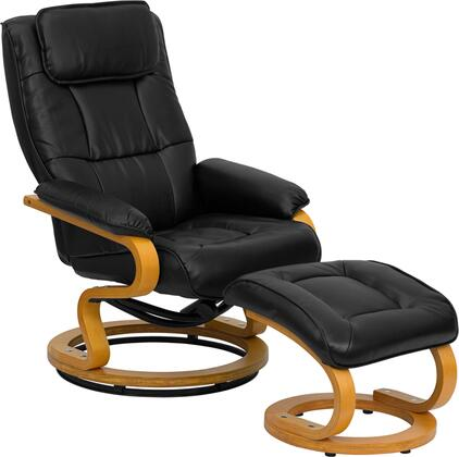 Flash Furniture BT7615BKCURVGG Contemporary Bonded Leather Wood Frame  Recliners  Appliances Connection