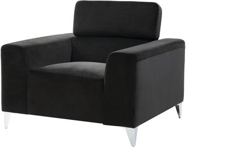 Glory Furniture G336C Black Suede Armchair with Metal Frame