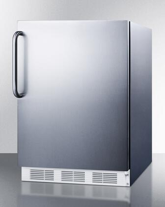 "Summit VT65M7CSSADA 24""  Freezer with 3.5 cu. ft. Capacity in Stainless Steel"