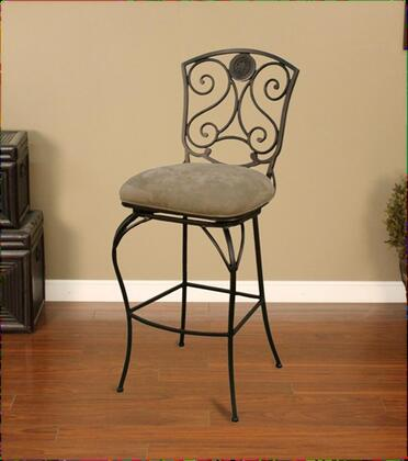 American Heritage 124756PPC07 Canterbury Series Residential Microfiber Upholstered Bar Stool