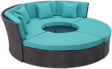 """Modway EEI2171EXPTRQSET 86.5"""" Water Resistant Outdoor Bed"""