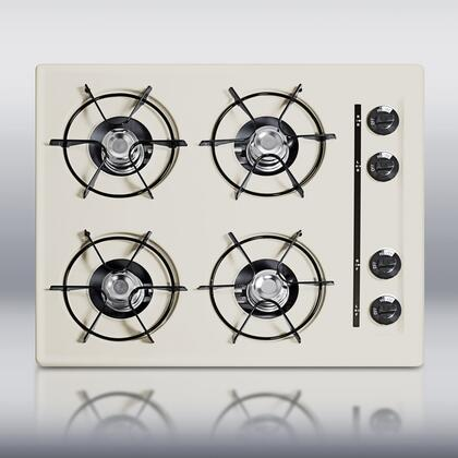 Summit STL03P  Gas Open Style Cooktop, in Bisque