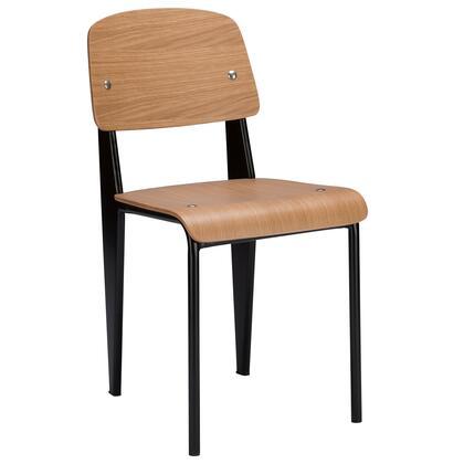 EdgeMod EM131NAT School Series Casual Metal Frame Dining Room Chair