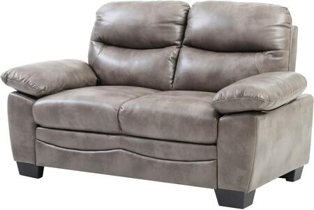 Glory Furniture G676L Faux Leather Stationary Loveseat